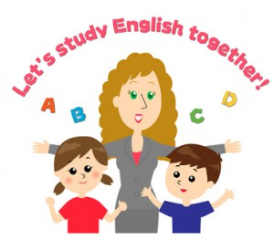 外国人の先生と子どもたち 英会話スクール