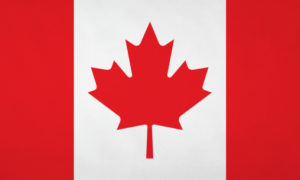 Canadian flag with nice satin texture.