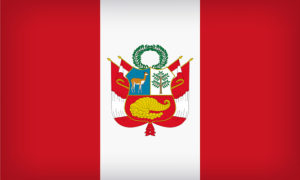 South American country flag of Peru