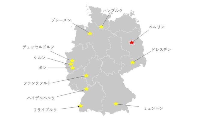 Deutschland map