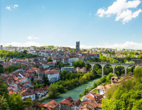 Fribourg famous city in central Switzerland