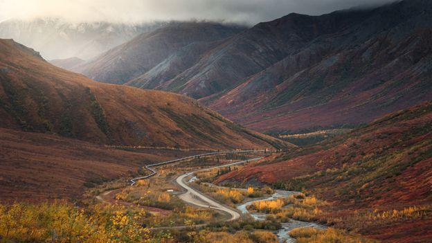 Dalton highway アラスカのバスルート